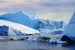 Isberg i Grönland 22 Arkivfoto