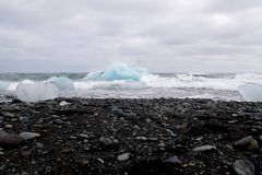 Isberg i lagun för ³ n för Jökulsà ¡ rlà Arkivfoton