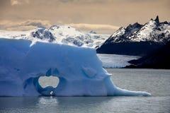 Isberg i Patagonia i sydliga Chile Arkivfoton