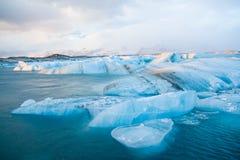 isberg iceland Arkivbild
