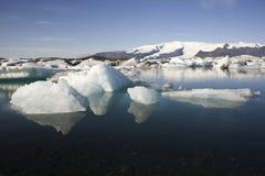 Isberg Joekulsarlon, Island Arkivbild