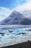 Isberg på den Fjallsarlon glaciärsjön, Island Royaltyfri Fotografi