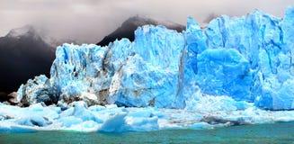 Isberg på den Perito Moreno glaciären i Patagonia, Argentina, South America Arkivfoton