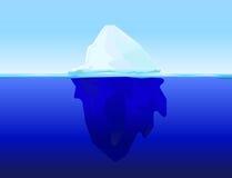 Isberg på vatten Vektor Illustrationer