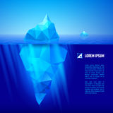 isberg under vatten Royaltyfri Bild