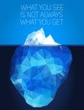 Isberg under vatten och över - vatten vektor Arkivbilder
