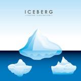 isbergglaciärdesign royaltyfri illustrationer