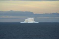 isbergkvarleva som är i tabellform royaltyfri foto
