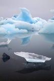 Isberglandskap som driver packeis Arkivfoto