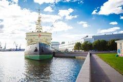 Isbrytare Krasin St Petersburg Arkivbild