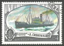 Isbrytare A Sibiryakov Arkivfoto