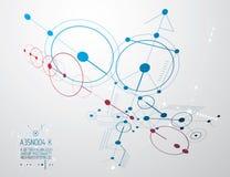 Iscensätta den teknologiska vektortapeten som göras med cirklar och Royaltyfria Foton
