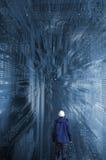 Iscensätta för teknologi och för high tech Arkivbilder