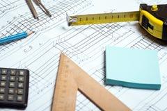 Iscensätta och design arkivbild