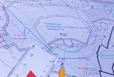 Iscensätta plan Arkivfoto