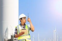 Iscensätter vindturbinen Royaltyfria Bilder