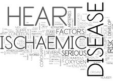 Ischaemic Heart Disease Word Cloud Concept Royalty Free Stock Image