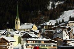 Ischgl, Slivretta Alpen,提洛尔,奥地利 免版税库存照片