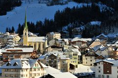 Ischgl. The centre of Ischgl mountain village in Austria Stock Images