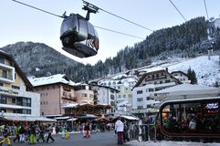Ischgl. The centre of Ischgl mountain village in Austria Royalty Free Stock Photography