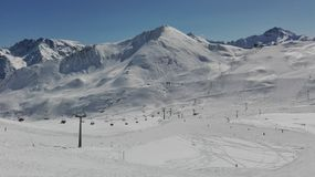 Ischgl in March. A beautiful weather on the noun in Ischgl Royalty Free Stock Photography