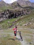 ischgl mountainbiker Στοκ εικόνες με δικαίωμα ελεύθερης χρήσης