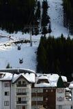 Ischgl, Silvrettabahn, Silvretta Alpen, Tirol, Austria. New modern cable-way in Silvretta ski arena ski resort in mountain village Ischgl in Tirol - Austria Royalty Free Stock Image
