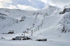 Ischgl Ski Resort. The ski slopes in the ski resort Ischgl - Austria Royalty Free Stock Photo