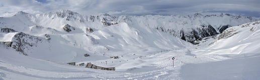 Ischgl Ski Resort. Snowy Samnaun mountains in Ischgl ski resort in Tirol - Austria Royalty Free Stock Images