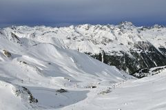 Ischgl Ski Resort Royalty Free Stock Photography