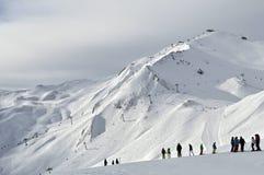 Ischgl skidar semesterorten Royaltyfri Fotografi