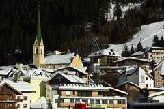 Ischgl, Slivretta Alpen, Tirol, Austria Royalty Free Stock Photo