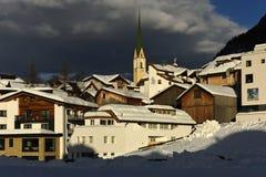 Ischgl, Silvretta Alpen, Tirol, Austria. Ischgl village - the centre of famous mountain village in Silvretta alps in Tirol - Austria Stock Photo