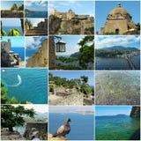 Ischi del castello dell'Aragona Fotografia Stock
