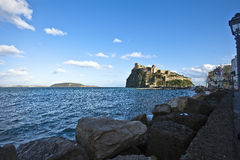 Ischia aragonese castle. Ischia isle in a sunny day Stock Photography
