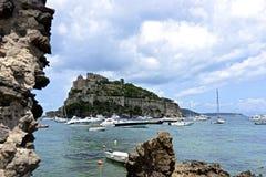 Ischia. The Aragonese Castle of Ischia cartaroman stock photos
