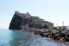 The ischia aragonese castle. The historic aragonese castle at ischia island in italy Royalty Free Stock Photography