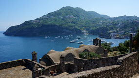 Ischia from Aragonese castle Stock Images