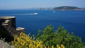 Ischia from Aragonese castle. View of Ischia island from Aragonese castle Stock Photography