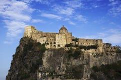 ISCHIA - Aragonese-Schloss Stockfotografie