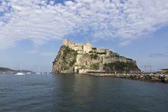 ISCHIA - Aragonesekasteel Royalty-vrije Stock Foto's