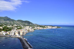 Ischia bay. A panoramic view of the beautiful Ischia and its bay Royalty Free Stock Images