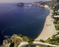 Ischia, beach Maronti royalty free stock photos