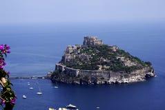 Ischia, Castello Aragonese Royalty-vrije Stock Afbeeldingen