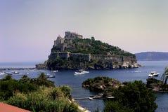 Ischia, Castello Aragonese Royalty-vrije Stock Fotografie