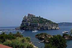 Ischia, Castello Aragonese Royalty-vrije Stock Afbeelding