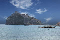 Ischia castle italy Stock Images