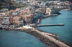 Ischia Coast. A view of the Ischia Coast near Naples, Italy Royalty Free Stock Photos