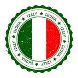 Ischia flag badge. Royalty Free Stock Photos