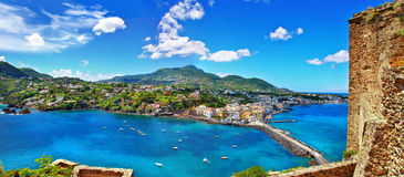 Ischia island. Beautiful Ischia isalnd - view from castle. Italy Royalty Free Stock Image